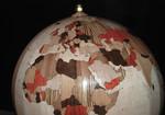 mappamondo di legno, wood globe